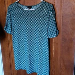 Patterned open sleeve blouse